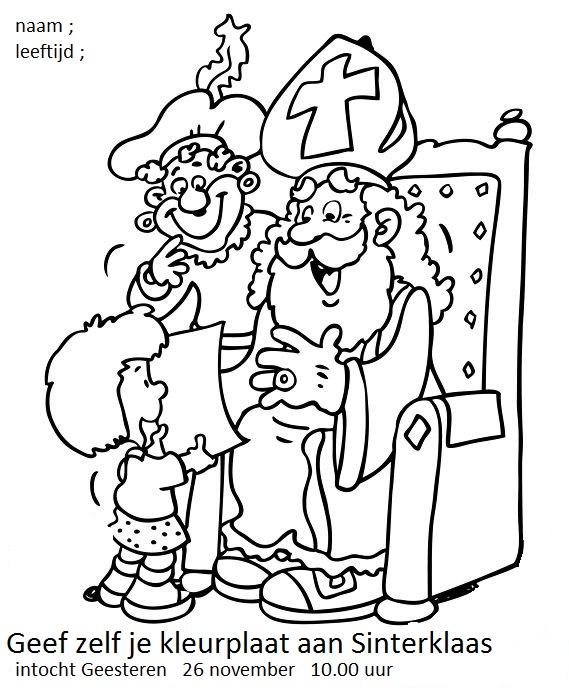 Sinterklaas Kleurplaten Maken.Geesteren Gld
